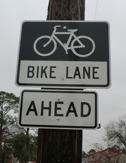 Sign For Bike Lane