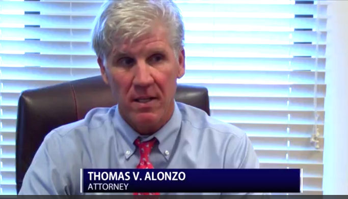 Thomas V. Alonzo speaking to KADN about funding for Lafayette Parish public defenders.