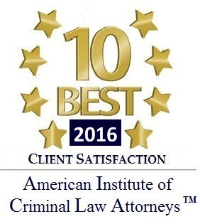 logo 10 best attorneys American Institute of Criminal Law Attorneys 2016